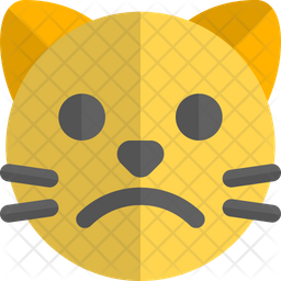 Cat Frowning Gradient  Emoji Icon
