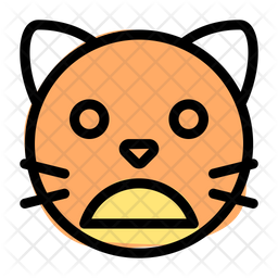 Cat Frowning Open Mouth Emoji Icon