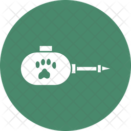 Cat Grooming Rounded Icon