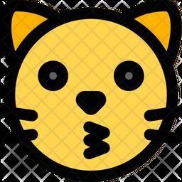 Cat Kissing Face Emoji Icon