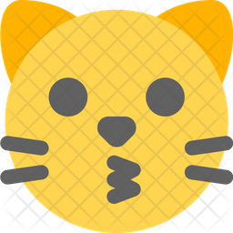 Cat Kissing Face Emoji Icon