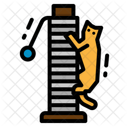 Cat Scratching Icon
