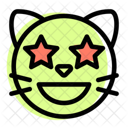 Cat Star Struck Emoji Icon