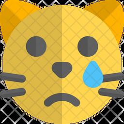 Cat Tear Gradient  Emoji Icon