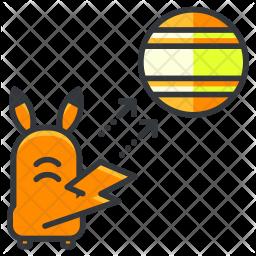Catch pokemon Colored Outline Icon
