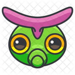 Caterpie Colored Outline Icon