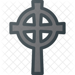 Catholic  cross Colored Outline Icon