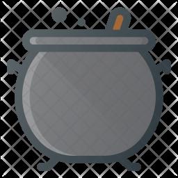 Cauldron Colored Outline Icon