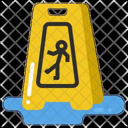 Caution Slippery Icon