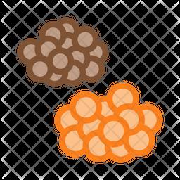 Caviar Colored Outline Icon