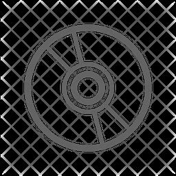 Cd Line Icon