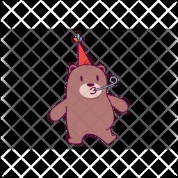 Celebrating Bear Icon