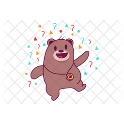Celebrating Bear Icon