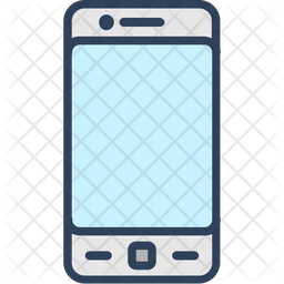 Cell Phone Icon >> Cell Phone Icon Of Colored Outline Style Available In Svg Png