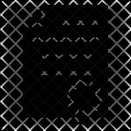 Certificate Glyph Icon