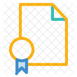 Certificate Colored Outline Icon