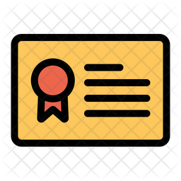 Certificate Icon of Colored Outline style - Available in SVG, PNG, EPS, AI & Icon fonts