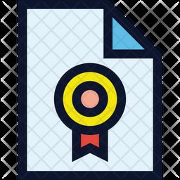 Certificate File Colored Outline Icon