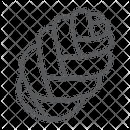 Challah Line Icon
