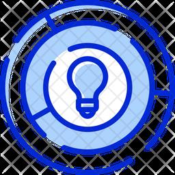 Challenge Maze Colored Outline Icon