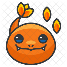 Charmander Colored Outline Icon