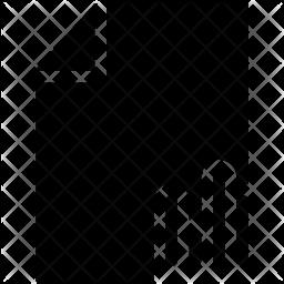 Chart File Glyph Icon