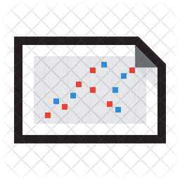 Chart Multiseries Scatter Plot Icon