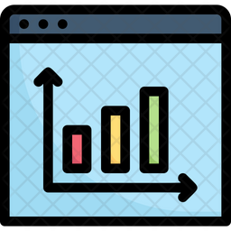 Chart Rise In Website Colored Outline Icon