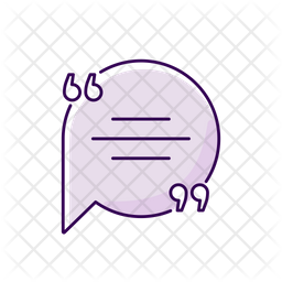 Chat Bubble With Quotation Marks Purple Icon