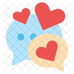 Chat love Flat Icon