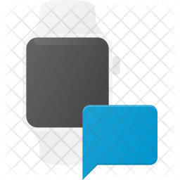 Chatting in Watch Flat Icon