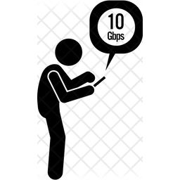 Checck Internet Speed Glyph Icon