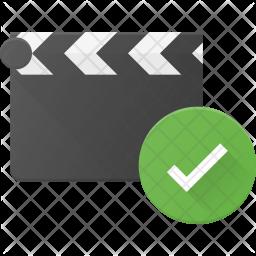 Check Clapper Flat Icon