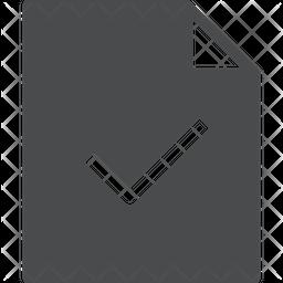 Check Mark Document Icon