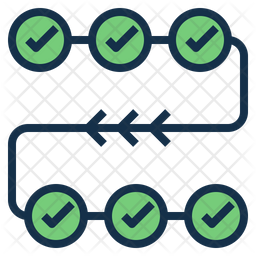 Check Point Colored Outline Icon