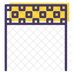 Checkered Colored Outline Icon
