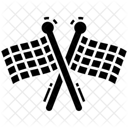 Checkered Flags Icon Of Glyph Style Available In Svg Png Eps Ai Icon Fonts