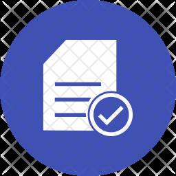 Checklist Glyph Icon