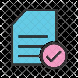 Checklist Colored Outline Icon