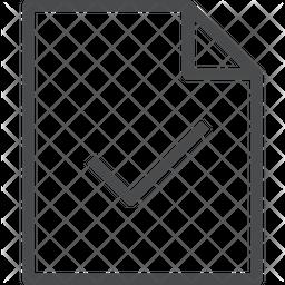 Checkmark Document Icon
