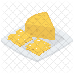 Cheddar Cheese Vector Icon
