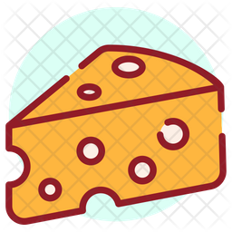 Cheese Colored Outline Icon