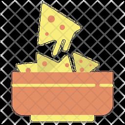 Cheese Nachos Flat Icon