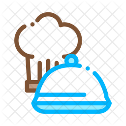 Chef Hat Colored Outline Icon