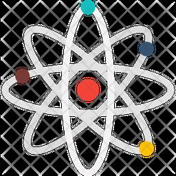 Chemical Atom Flat Icon