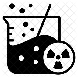 Chemical Radiation Glyph Icon