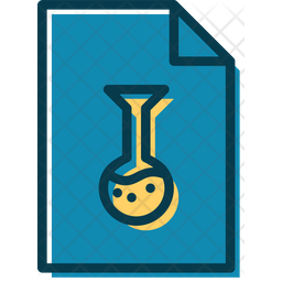 Chemistry File Colored Outline Icon