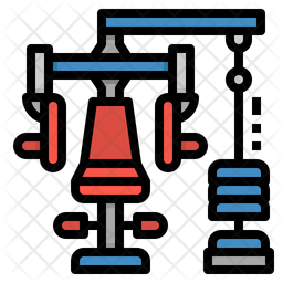 Chest Press Machine Icon