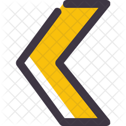 Chevron arrow Colored Outline Icon