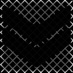 Chevron Down Glyph Icon